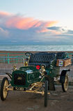 Vintage Ford car at the seaside Stock Photos