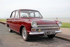 Vintage ford cortina mk1 car Stock Photography