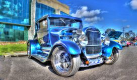 Vintage 1928 Ford Coupe Stock Images