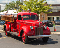 Vintage Ford fire engine, Emergency Vehicle Show, Woodward Dream Cruise, MI Stock Photography