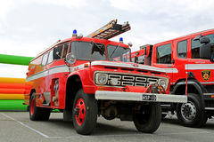 Vintage Ford Fire Truck in a Show Stock Images