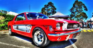 Vintage Ford Mustang race car Royalty Free Stock Photo