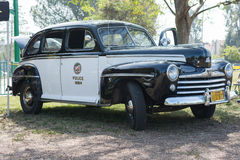 Vintage Ford police car on display Stock Photography
