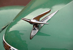 Vintage ford prefect car grille and mascot Royalty Free Stock Photo