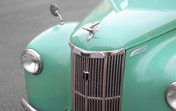 Vintage ford prefect car. Photo of a light blue vintage british ford prefect car parked by the kerbside Stock Images