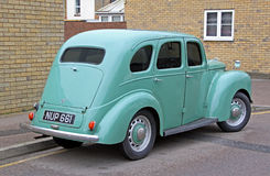 Vintage ford prefect car. Photo of a light blue vintage british ford prefect car with tinted windows.nphoto taken 15th march 2015 and ideal for vintage cars Stock Images