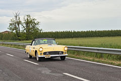 Vintage Ford Thunderbird in Mille Miglia 2013 Stock Photography