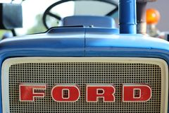 Vintage ford tractor royalty free stock photo
