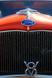 Vintage Ford V8 Coupe Hot Rod Grill Stock Image