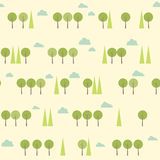 Vintage forest pattern Stock Photos