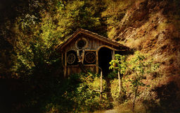 Vintage forest pavilion Royalty Free Stock Images