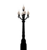 Vintage forged lamppost isolated on white background Royalty Free Stock Images