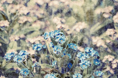 Vintage Forget-me-not Flower Background Royalty Free Stock Photo