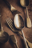 Vintage fork and spoon Royalty Free Stock Photography