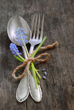 Vintage fork and spoon Royalty Free Stock Photo