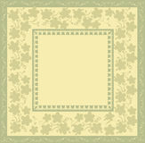 Vintage foto frame. With flowers background Stock Photo