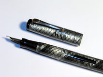 Vintage Fountain Pen. Lever fil with a snakeskin design Royalty Free Stock Photography