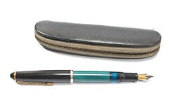 Vintage fountain pen and  case Royalty Free Stock Images