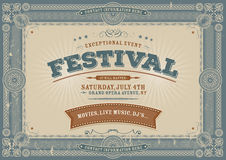 Vintage Fourth Of July Festival Background Royalty Free Stock Images