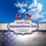Vintage Fourth of July Independence Day Stock Images