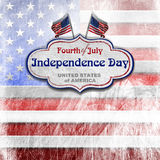 Vintage Fourth of July Independence Day Royalty Free Stock Image