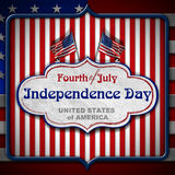 Vintage Fourth of July Independence Day Royalty Free Stock Photo