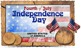 Vintage Fourth of July Independence Day Royalty Free Stock Photography