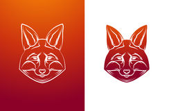 Vintage fox label. Retro vector design graphic Stock Photo