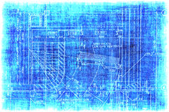 Vintage fragment of a construction plan Stock Images