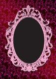 Vintage frame. Grunge pink glamoure background with vintage frame Stock Photography