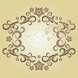 Vintage frame. Vector illustration for your design Stock Photography