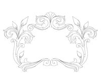 Vintage frame. Vintage baroque frame isolated over white background Royalty Free Stock Images