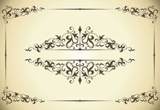 Vintage frame. Design of a  in vintage style Royalty Free Stock Photos