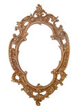 Vintage frame. Wooden vintage frame, hand carved, Tirolese art Royalty Free Stock Photography
