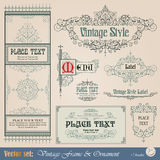 Vintage frame. Frame, border, ornament and element in vintage style Royalty Free Stock Photography