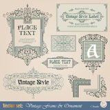 Vintage frame stock illustration