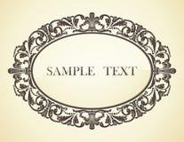 Vintage frame. Design of a vector background in vintage style Stock Images