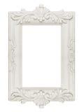 Vintage frame. Vintage plaster frame included path on white background Stock Images