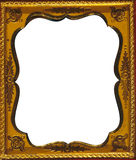 Vintage frame. A vintage light brown and gold frame Stock Photo