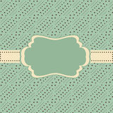 Vintage Frame. Vintage ornate frame greeting card with seamless pattern background Stock Photography