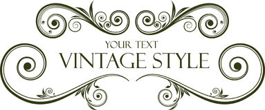 Vintage frame. Vintage retro frame for design Royalty Free Illustration