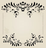 Vintage frame. Floral retro elements. Abstract pattern for design Royalty Free Stock Images