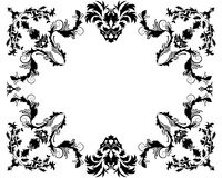 Vintage frame. Abstract floral vector frame background in Victorian style Royalty Free Stock Photo