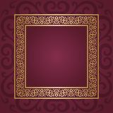 Vintage frame. Abstract ornamental background Royalty Free Stock Images