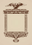 Vintage frame on ancient paper Royalty Free Stock Images