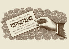 Vintage Frame Background Vector Royalty Free Illustration