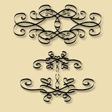 Vintage frame. With beautiful swirls of black color Royalty Free Stock Photography