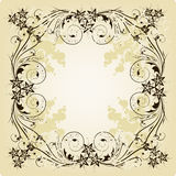 Vintage frame. Beige. This image is a vector illustration and can be scaled to any size without loss of resolution. This image will download as a .eps file. You Stock Image
