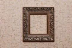Vintage frame on beige paper background Royalty Free Stock Image