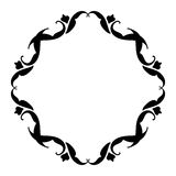 Vintage frame black on white Royalty Free Stock Images